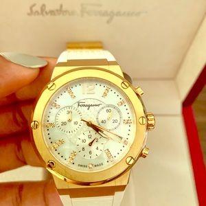Gold Ion Plated Salvatore Ferragamo Watch